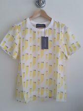 Antipodium Designer Women's 100% Silk Lemon Citronelle T-Shirt. UK 8. RRP £160.