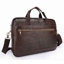 "High Class Men's Italian Real Leather Briefcase 14""laptop Messenger Bag Tote Bag"