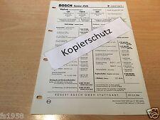 Volvo 121, 122 S,  221 Bj. 1961 - 64,  orig. Bosch Service-Liste v. 1964