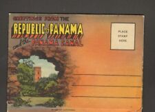 Unused Miniature Souvenir Postcard Folder Republic of Panama and Panama Canal