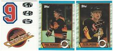 7 1989-90 TOPPS HOCKEY VANCOUVER CANUCKS CARDS (TEAM LOGO STICKER/REINHART+++)