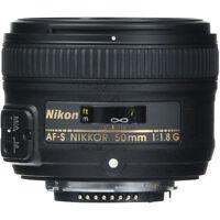 Cyber Monday Sale 50mm 1.8 Nikon Nikkor 50 mm F/1.8G Fx G Swm Af-s Sic M/a Lens