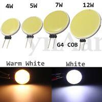 G4 4/5/7/12W LED COB Stiftsockel Lampe Glühbirne Leuchtmittel Spotstrahler DC12V