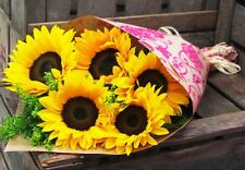 Fresh Flower Delivery Beautiful Sunflowers Bouquet. Free Gift Message