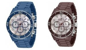 Two Watch Set Invicta Pro Diver 34866 & 34869 Chrono Mother-of-Pearl Ceramic