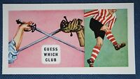 SHEFFIELD UNITED   The Blades   Original 1950's Vintage Colour  Card