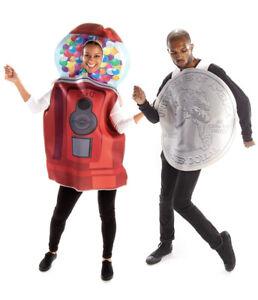 Gumball Machine & Quarter Couple Costume Funny Dress Up Halloween