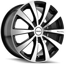 4-NEW Touren TR3 17x7 4x100/4x114.3 +40mm Black/Machined Wheels Rims