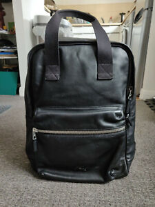 BLACK LEATHER LACOSTE BACK PACK - BEAUTIFULLY SOFT LEATHER
