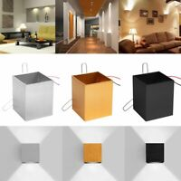 Modern 3W LED Square Day/WarmWhite Up Down Wall Lamp Spot Light Sconce Lighting