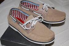 Zapatos náuticos de ante Martinelli, beis grisáceo. Talla 42