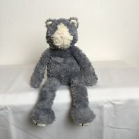 """Rare Jellycat Pickles Grey Cat Kitten Beanie Plush Soft Toy Height approx 13"""""""