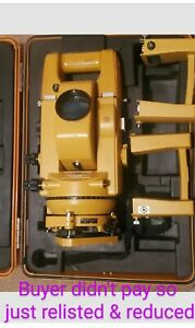 Topcon GTS-2 Theodolite Total Station w/ Case & additional batteries RELISTED