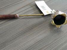 London Ornament Brass and Indigo Jeweled Nouveau Candle Snuffer