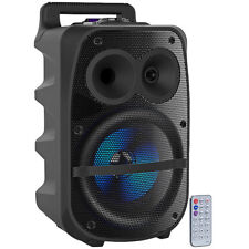 auvisio Mobile PA-Partyanlage, Bluetooth, MP3, USB, SD, Karaoke, UKW, 150 Watt