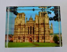 Tipo de diapositivas de vidrio Raro década de 1950 imágenes Rectangular Pisapapeles! Super período Pieza!