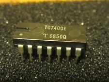 TG7400E (7400) IC Vintage Rare Collectible Plastic 14 Pin Dip Quad 2-input NAND