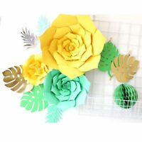 6pcs DIY Paper Turtle Leaf/Palm Leaves Backdrop Decor Party Wedding Decor HQ