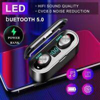 Bluetooth 5.0 Headphones TWS Wireless Earphones Mini Earbuds IPX6 Stereo Headset