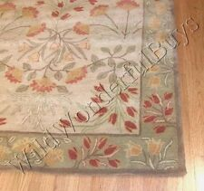 Pottery Barn Adeline Rug Green 5x8 Floral Leaves Tufted Wool New Authentic
