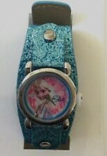 Disney Frozen Watch Round Elsa Dial Blue Sparkling Band Brand New In Box Beauty!