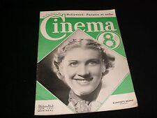 LE COURRIER DU CINÉMA<>Rare MONTREAL Vintage magazine<>1st Edition ° JUNE 1937