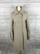 Women's DKNY Coat - Small UK8/10 - Beige - Wool - Great Condition
