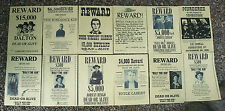 Billy The Kid, WILD WEST POSTERS, Novelty reproductions, SET K ,Butch Cassidy,