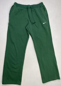 Nike Open Hem Pants Men's Sweatpants XL Green