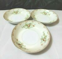 Vintage Meito China Sm Bowl Hand Painted Floral Lot of 3 Made in Japan Preowned