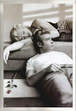 Framed Marilyn Monroe James Dean Wall Decor in Premium Brushed Nickel Frame