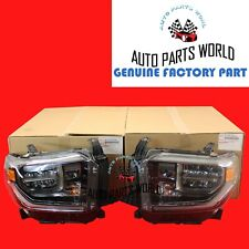 GENUINE OEM TOYOTA 18-20 TUNDRA TRD PRO & SPORT FULL LED RH & LH HEADLIGHT SET