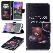 Para Samsung Galaxy A7 A750F 2018 Bolsa de Piel Sintética Libro Diseño 25
