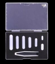 7pcs PTFE magnetic stirrer mixer stir bar White Color with storage case