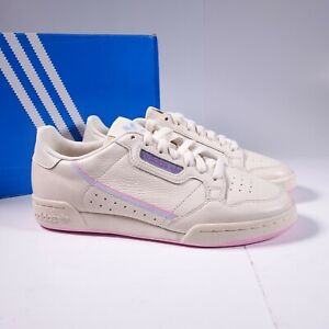 Size 9 Women's adidas Continental 80 Sneakers G27726 Ecru Tint/Pink/Periwinkle