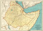 1935 Vintage Ethiopia Africa Map of Ethiopia & The Somalilands Atlas Map 9057