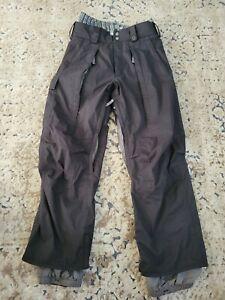 Burton Dry Ride Snowboard Ski Cargo Pants Men Size Small Black RN 87380 CA 26902