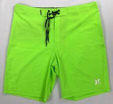 Men's Hurley Phantom Neon Green Board Shorts 40 Beach Swim Wear