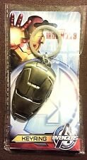 MARVEL AVENGERS - IRON MAN 3 Head - Pewter Key Ring - Avengers Initiative