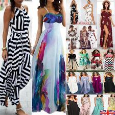 Womens Maxi Boho Floral Summer Beach Long Skirt Evening Cocktail Party Dress NEW