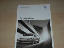 47659) VW Scirocco Preise & Extras Prospekt 10/2008