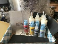 Plaid Gallery Glass Window Colour Paint Bundle Lot + Liquid Leading & Lead Sheet