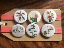 Vintage Flowers (Botanical Garden) - Pin Badge Set / Magnet Set