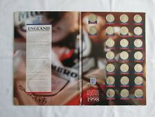 The official England squad medal collection 1998 Sainsburys (COMPLETE)