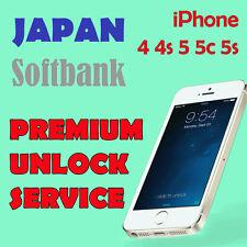 FACTORY UNLOCK PREMIUM SERVICE SOFTBANK JAPAN iPhone 4 4s 5 5c 5s All IMEI OK