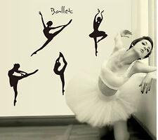 New Ballet Dancing Girl Vinyl Art Removabl Wall Sticker Dance Studio Decal Decor
