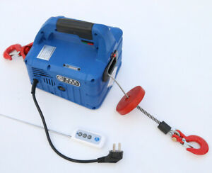 220V Portable Household Electric Winch Wireless Control  500kg X 7.6m