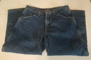 HUSKY BOYS 10/12 32x24 Wrangler Rugged Wear Insulated Fleece Lined Jeans HEMMED