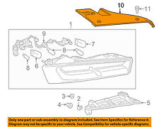 Chevrolet GM OEM Taillight Tail Light Lamp Rear-Filler Panel Right 84070692