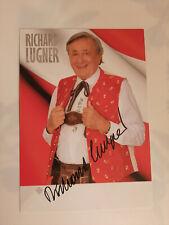 Richard Lugner Autogrammkarte mit Original Unterschrift !
